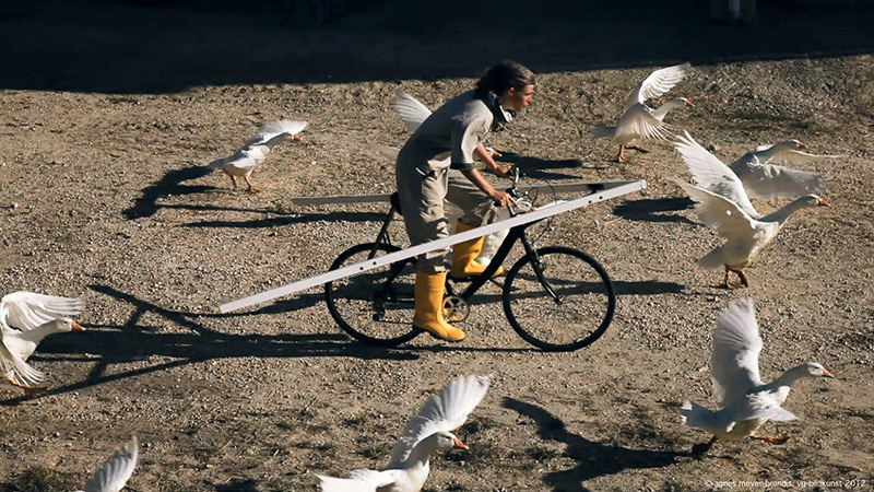 LUNAR BIKE, Astronaut Training Method No. VII, Videostill, Moon Goose Colony © Agnes Meyer-Brandis, VG-Bildkunst 2012