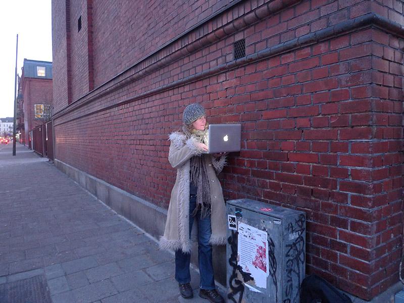 Anna Kindvall visiting Dead Drops in Malmö