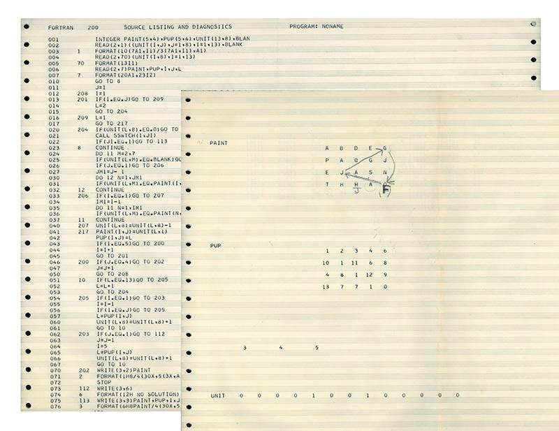 Ernest Edmonds computer code, 1968