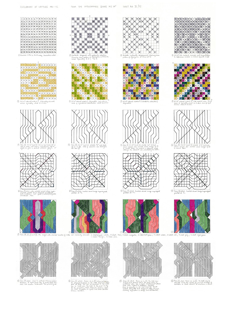 Development of Lattices IV, 1981-82 artwork by Susan Tebby
