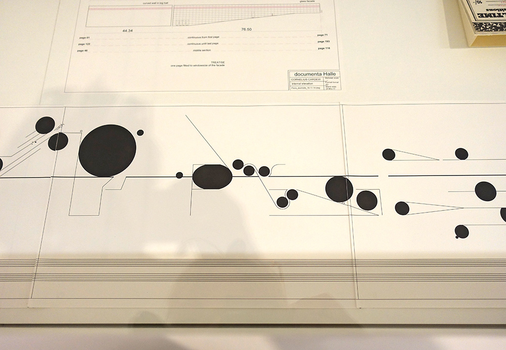Treatise (1967) Original and published score, vectorisation for adaptation at the documenta Halle The British Library, London, Horace Cardew and Edition Peters